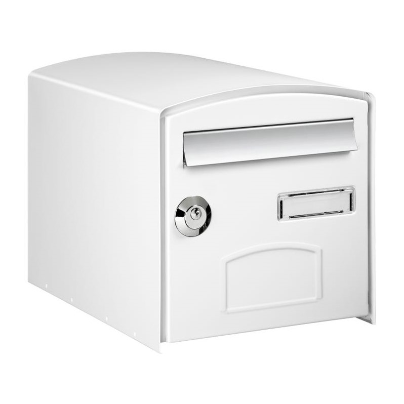Photo Boîte aux lettres normalisée 1 porte extérieur DECAYEUX acier blanc satiné