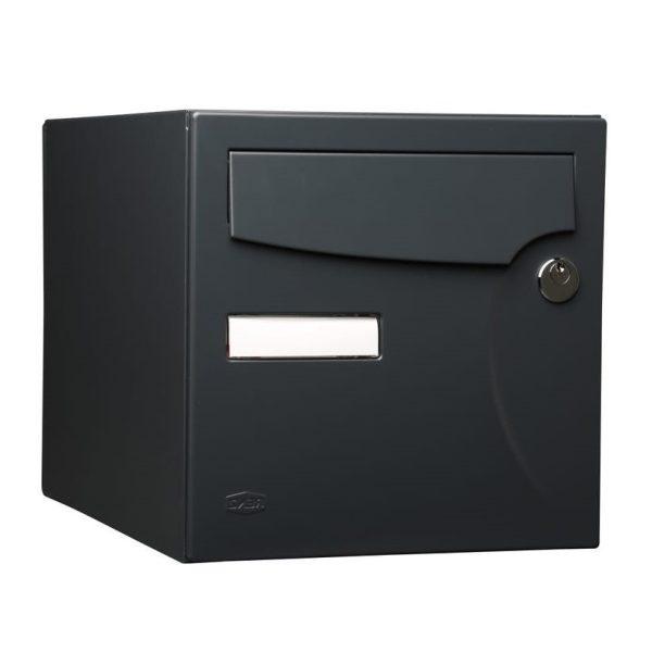 photo Boîte aux lettres normalisée 1 porte extérieur RENZ acier anthracite mat