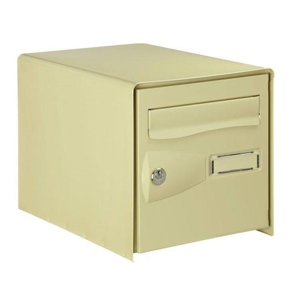 photo Boîte aux lettres normalisée 2 portes extérieur DECAYEUX acier beige mat