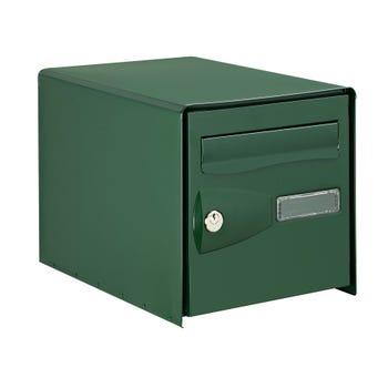 Photo Boîte aux lettres normalisée 2 portes extérieur DECAYEUX acier vert mat